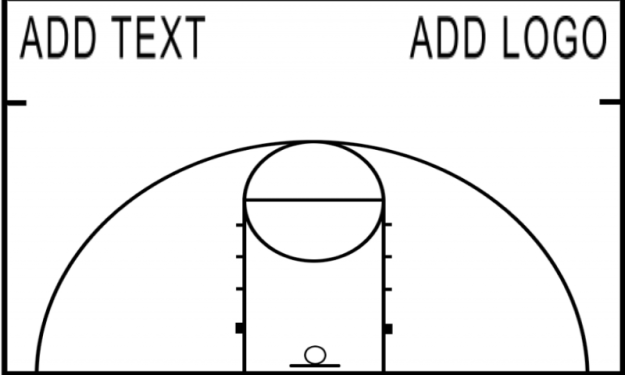 Half Court Dry Erase Basketball Diagram