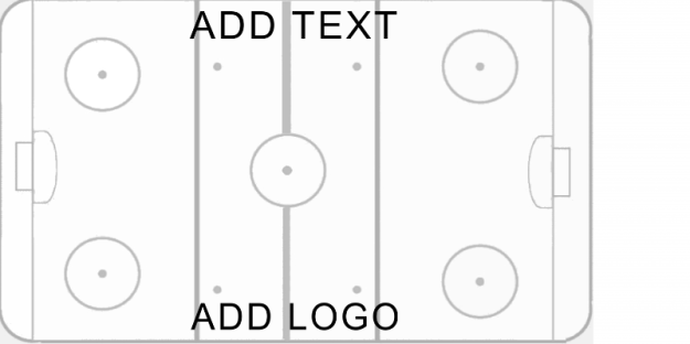 Dry Erase Ice Hockey Diagram